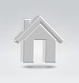 silver house icon vector image vector image