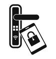 smartphone door lock icon simple style vector image vector image