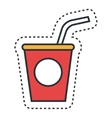 soda fast food icon vector image