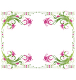 Spring frame flowers vector image vector image