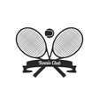 tennis racquets with ball vector image vector image