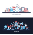 Time Management Start Up Flat Design Concept vector image