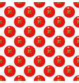 tomatoes seamless pattern in flat style on a white vector image vector image