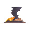 Tornado Landscape Silhouette vector image
