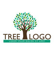 tree leaf logo design eco-friendly look vector image vector image