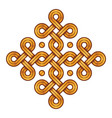 viking decorative knot - engraved gold - ring vector image