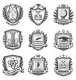vintage educational coat of arms set vector image