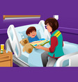 volunteer at the children hospital vector image vector image