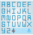 Water Pipe Alphabet Character Design Template vector image