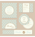 wedding invitations set vector image vector image