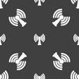 Wi-fi internet icon sign Seamless pattern on a vector image