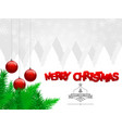 merry christmas and happy new year background vector image