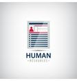 human resources resume career finder cv vector image
