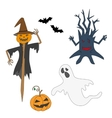 Collection icons for halloween vector image