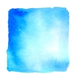 Light blue watercolor hand drawn banner vector image