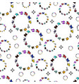 a pattern of colored circles zodiac signs icons vector image