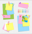 a set of colored sheets of different sizes and vector image vector image