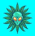 alien tropical weed marijuana vector image vector image