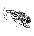 astronaut flies in space spaceman explores the vector image vector image
