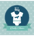 Baby Shower design cloth icon Blue vector image vector image