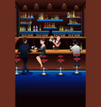 bartender working in a bar vector image