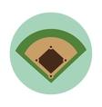 baseball camp diamond icon vector image vector image