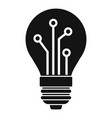 bulb ai smart icon simple style vector image vector image