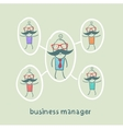 business manager and his staff vector image vector image