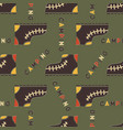 camping boot seamless pattern mixed flat with vector image vector image