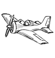 cartoon airplane vector image vector image