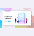 cashless paying website landing page man buyer vector image
