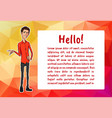 character with bubble talk vector image