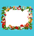 christmas holiday frame for greeting card design vector image vector image