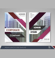 company annual report vector image vector image