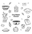 cozy autumn collection vector image vector image