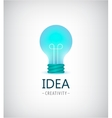 creative idea light bulb logo vector image vector image