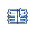diary line icon concept diary flat symbol vector image vector image