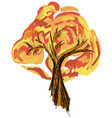 drawn colored tree on white vector image vector image