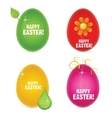 easter eggs abstract creative sign vector image