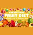 exotic fruit diet vitamins in tropical berries vector image vector image