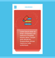 files copy mobile vertical banner design design vector image vector image