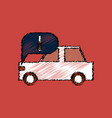 flat icon design collection car and detail in vector image vector image