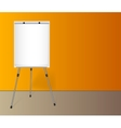 flip chart with a blank sheet paper near vector image vector image