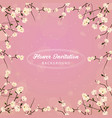 flower invitation background vector image