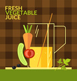 Fresh vegetable juice for design website infogr vector image
