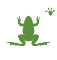 frog silhouette abstract on white vector image