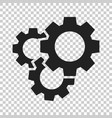 gear icon in flat style cog wheel on isolated vector image vector image