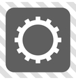 Gear Rounded Square Button vector image vector image