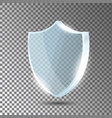 glass shield blue acrylic security shield vector image vector image