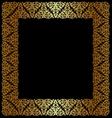 Gold openwork frame